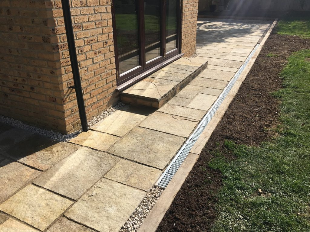 Honeymede sandstone patio