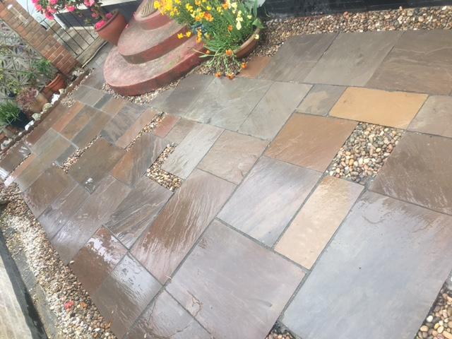 patchwork work patio