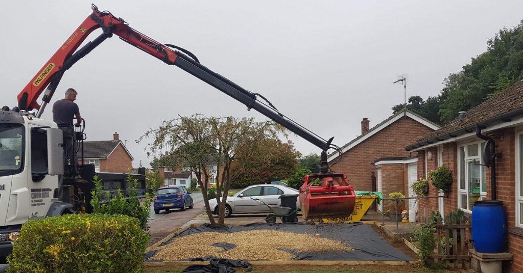 gravel driveway drop